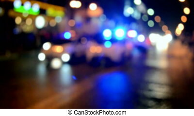 abstract blurred lighting - abstract blurred road accident...