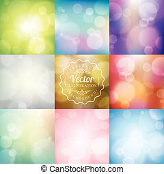 Abstract blurred lights bokeh background