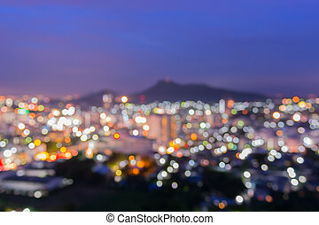 Abstract blurred lights cityscape background , Night city.