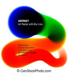 Abstract blurred line with high intensity juicy vibrant colors