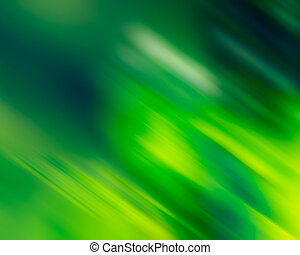 Abstract blurred lines and light green shapes