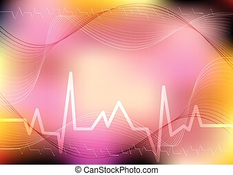 Abstract blurred medical background. World Health day