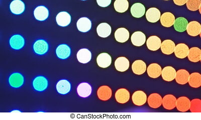 abstract blurred of bulbs lights background blur of decorations concept holiday celebrations display.