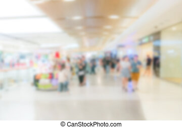 Abstract blurred of shopping mall