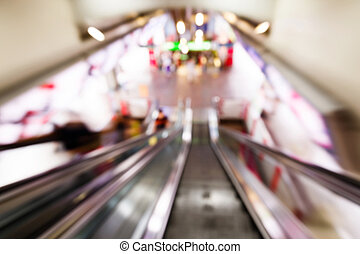 Abstract blurred people in train station - Abstract blurred...