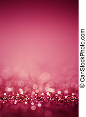 Abstract Blurred pink background with glitter sparkle bokeh