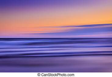 blurred sea landscape