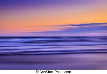 blurred sea landscape
