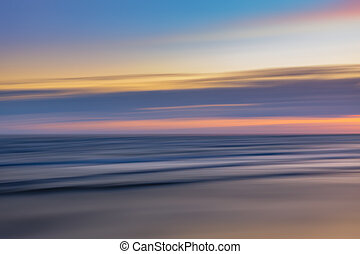 blurred sea landscape - Abstract blurred sea landscape and...