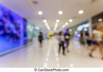abstract blurred shopping mall background with bokeh light