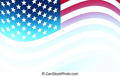 Abstract blurred usa flag background