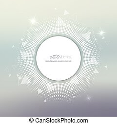 Abstract blurred vector background with sparkle stars with round banner dots, scatter triangles. for Merry Christmas, New Year, anniversaries, festivals, birthday, Xmas.