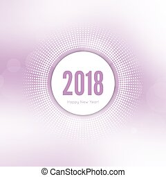 Abstract blurred vector background. Happy New Year 2018...