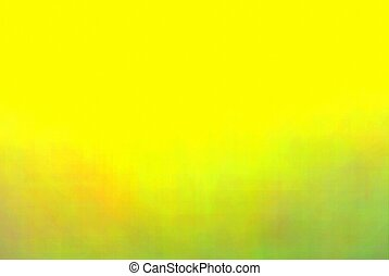 Abstract Blurry yellow with green nature background