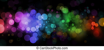 Abstract blurs on dark background