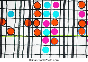 Abstract board game concept - Abstract graph chart with...