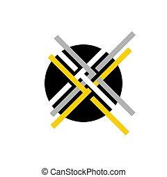 abstract, bocht, communie, kolken, ontwerp, illustratie, vector, cirkel, logo, ronde