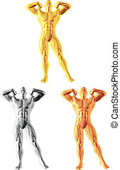Abstract bodybuilder figure