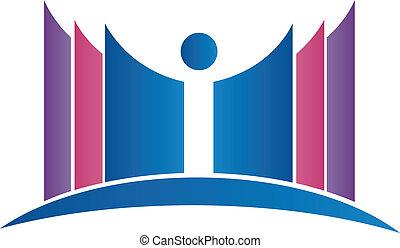 abstract, boekjes , student, logo