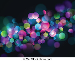 Abstract Bokeh Background - Blurry lights background with...