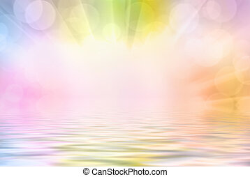Abstract bokeh background - Bright vivid colorful sunny ...