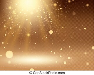 Abstract bokeh background - Abstract glittering golden light...