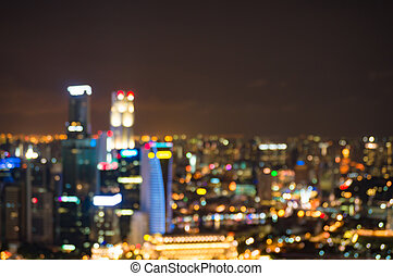 Abstract bokeh background of urban cityscape