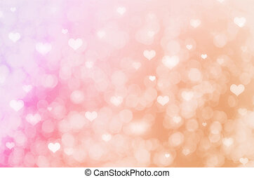 abstract bokeh background with hearts