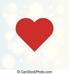 Abstract bokeh Background with Red Heart.
