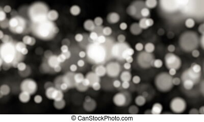 Abstract bokeh black and white particles