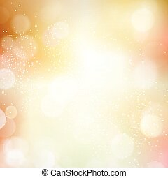 Abstract bokeh blurry light dot autumn, fall background