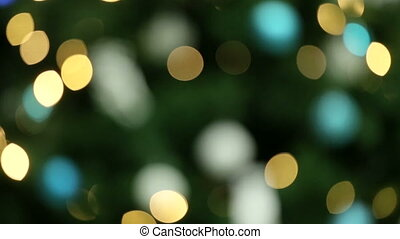 Abstract bokeh in green color. Natural green blurred background.