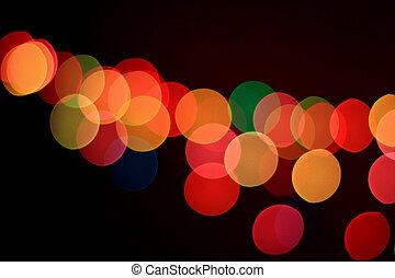 Abstract bokeh light