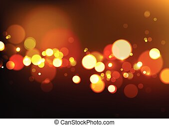 Abstract Bokeh Lights Background