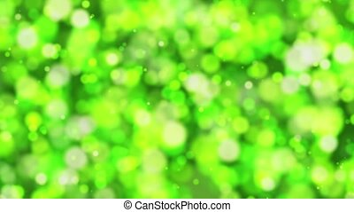 Abstract bokeh lights in green color