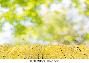 Abstract Bokeh of tree color background
