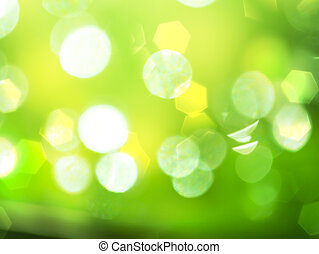 Abstract bokeh on green background.