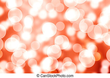Orange Space Light Bokeh Background Hd