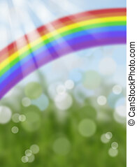 abstract bokeh rainbow background