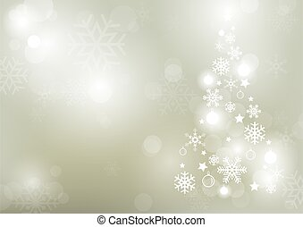 Abstract Bokeh Winter Background with Snowflakes