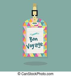 Abstract Bon Voyage message tag