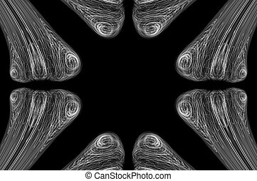 Abstract Bone XRay Background - White bones scanned by an ...