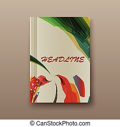 Abstract book cover. Presentation image of sheet thick paper an unusual background