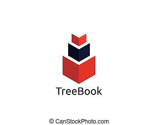 abstract book logo design template vector illustration