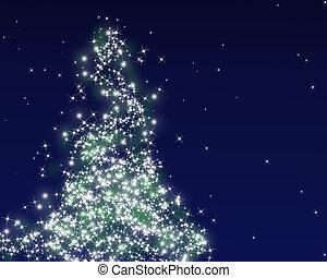 abstract, boompje, kerstmis
