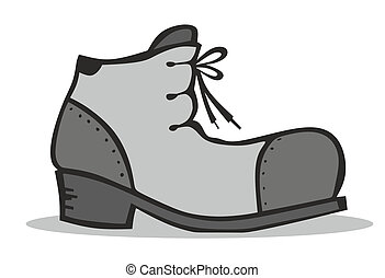 abstract boot illustration - simplified illustration of a...