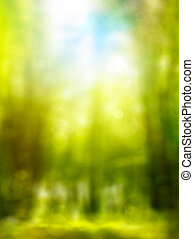 abstract, bos, lente, groene achtergrond