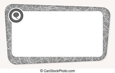 Abstract box for your text with speech bubble