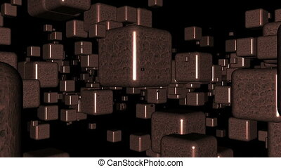 Abstract boxes animation video background