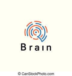 Abstract brain creative. Vector logo template